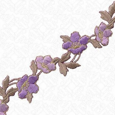 30MM IRON-ON MULTI FLORAL TRIM