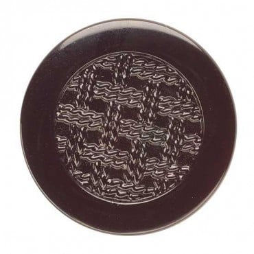 Glass Houndstooth Fashion Button