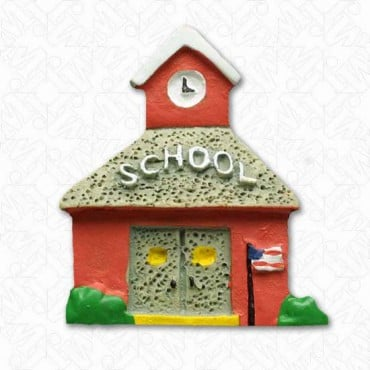 SCHOOL BUTTON - RED