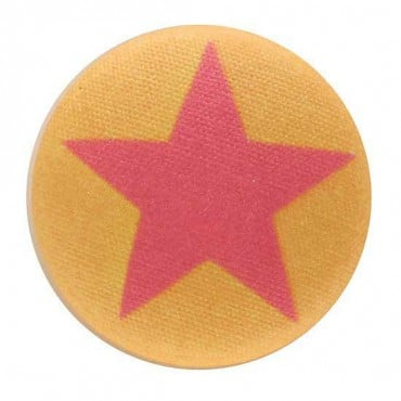Star Button with Shank Back