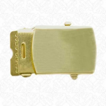 "1.25""  MILITARY BUCKLE W/ ENDS - GOLD"