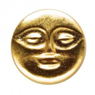 METAL MASK BUTTON - BRIGHT GOLD