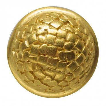 ENAMEL DOME BUTTON - MATTE GOLD