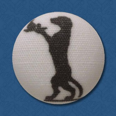 DOG SILHOUETTE BUTTON - WAITER