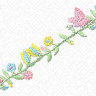 30MM IRON-ON BUTTERFLY AND FLORAL TRIM