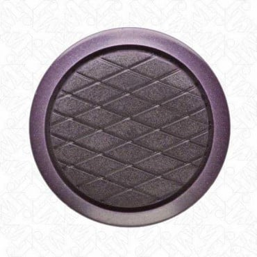 CRIS CROSS BUTTON WITH SHANK - PURPLE