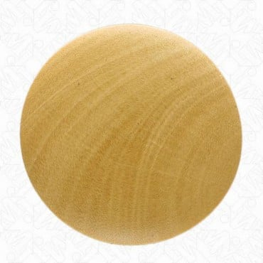 Rounded Wood Button with Shank