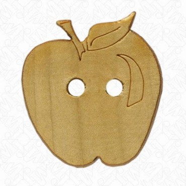 WOOD APPLE BUTTON - NATURAL