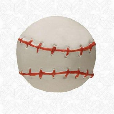 BASEBALL SHAPE BUTTON - WHITE