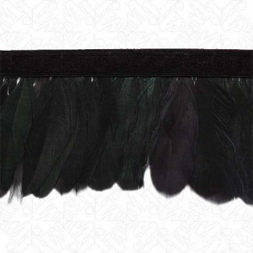 "2 7/8"" COQUE FEATHER FRINGE - SPRUCE/BLACK"