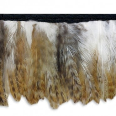 HACKLE FRINGE - NATURAL/CHINCHILLA
