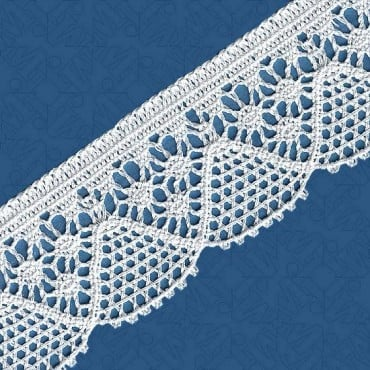 "2.25"" CLUNY LACE - WHITE"