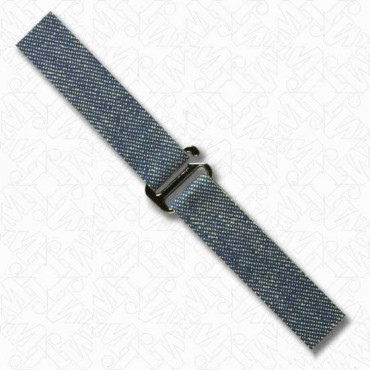 "5/8"" BUCKLE WITH DENIM TABS - GUNMETAL/DENIM"