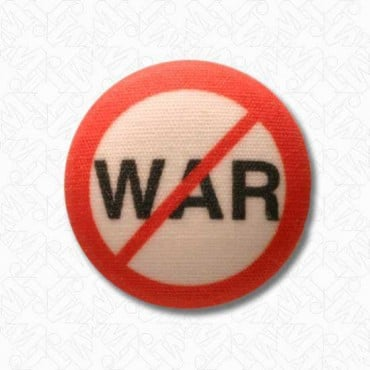 NO WAR BUTTON - RED/WHITE