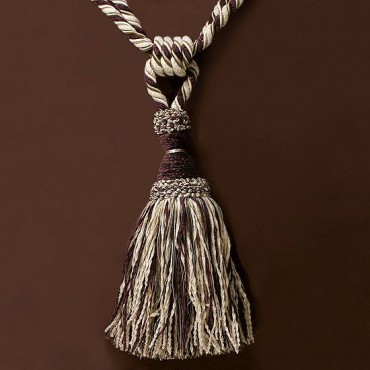 "26"" CHENILLE SINGLE TASSEL TIEBACK"