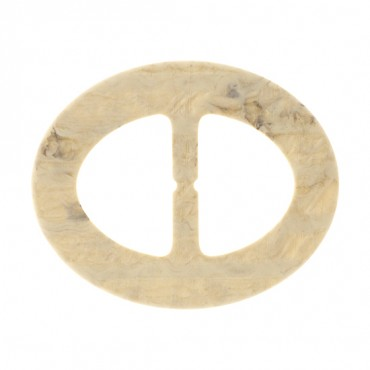 "IMPORTED OVAL SLIDE BUCKLE-2 3/4"" x 2 1/4""-IVORY"