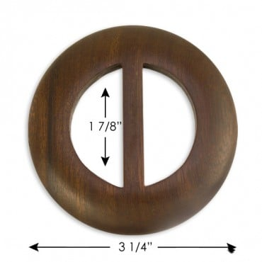 "3 1/4"" ROUND BUCKLE - DARK BROWN"