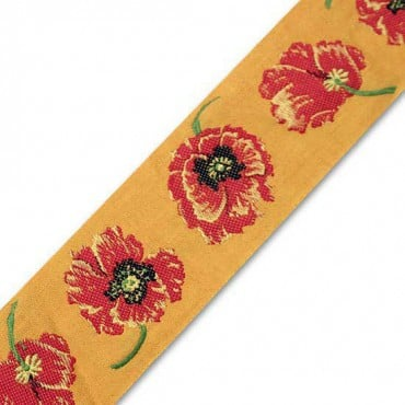 62MM FLOWER EMBRROIDERY JACQUARD - ORANGE/RED MULTI