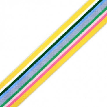 "1 1/2"" STRIPE GROSGRAIN - YELLOW MULTI"