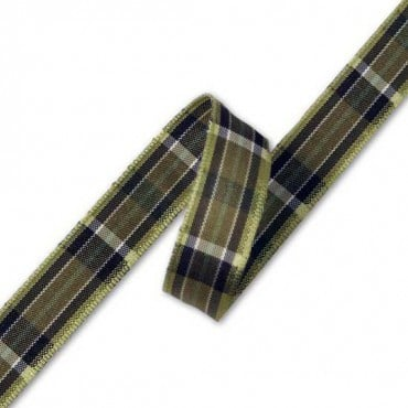 16mm Plaid Ribbon