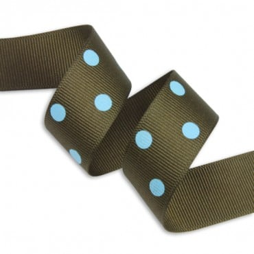 "7/8"" (22MM) GROSGRAIN DOTS RIBBON"