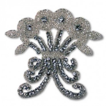 RHINESTONE BEADED APPLIQUE