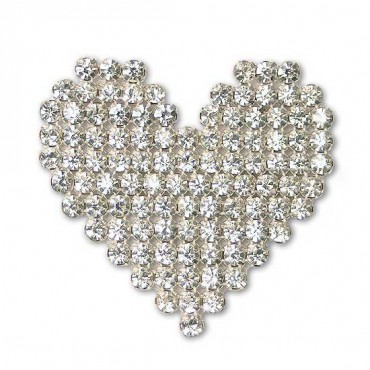 Rhinestone Heart Applique