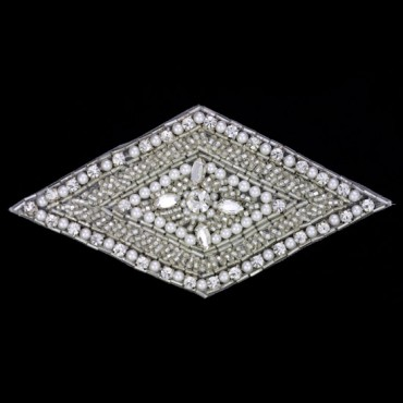 "5"" X 2.5"" Beaded Applique"