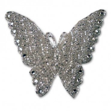 Rhinestone Beaded Butterfly Applique