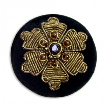 BULLION BEADED FLOWER BUTTON