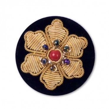 BULLION FLOWER BUTTON