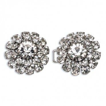 RHINESTONE HOOK & EYE - CRYSTAL/SILVER