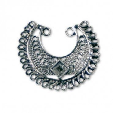 LOOPED METAL CHARM - ANTIQUE SILVER
