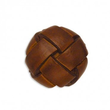 Woven Leather Knot Button