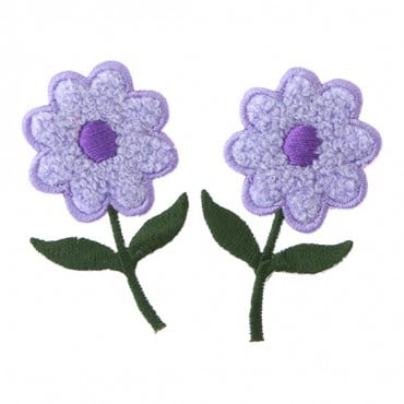 "2.5"" X 1.5"" CHENILLE FLOWER-LILAC PURPLE"
