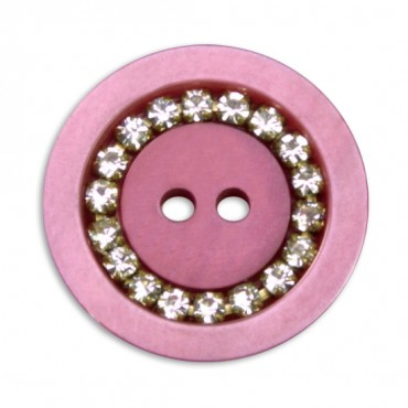 Two Hole Rhinestone Button