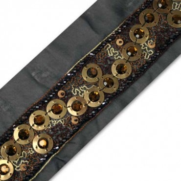 "1.75"" BEADED BORDERS - BRONZE MULTI"