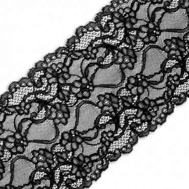 "6"" LARGE FLORAL STRETCH LACE"