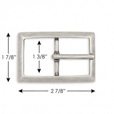 CLASSIC ANTIQUED RECTANGULAR METAL BUCKLE