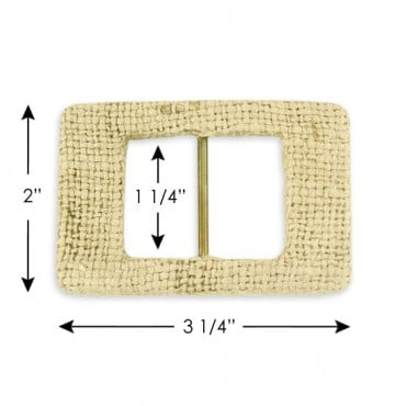 "2"" X 3 1/4"" COVERED BUCKLE - NATURAL JUTE"