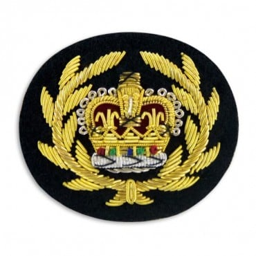 "2 x 2 1/2"" CROWN BULLION CREST - GOLD MULTI"