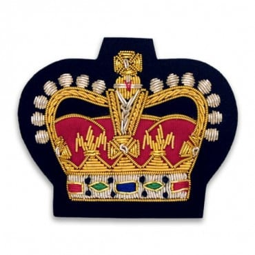 "2.25"" x 2 5/8"" CROWN BULLION CREST - GOLD MULTI"