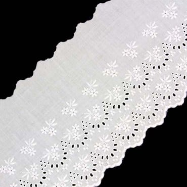 "5 1/8"" (131mm) Cotton Eyelet Lace"