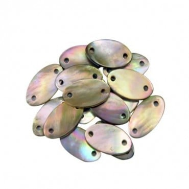 15MM X 8MM OVAL SEW ON SHELL - BEIGE PEARL