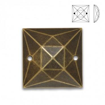 10mm Metal Square Sew-On Jewel