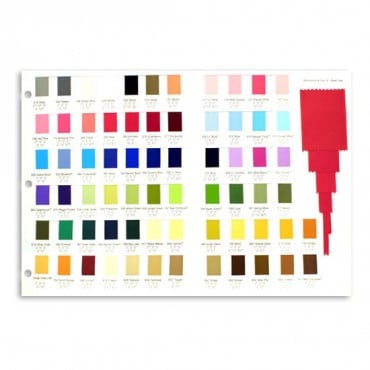 GROSGRAIN COLOR CARD - MULTI