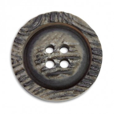 FAUX HORN BUTTON 4-HOLES