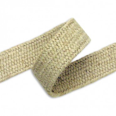 30MM ELASTIC JUTE BRAID - NATURAL