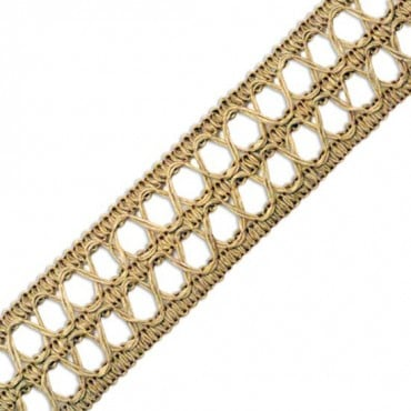 43MM JUTE KNIT BRAID - DARK