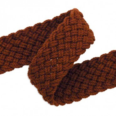 34MM COTTON BELTING BRAID - RUST